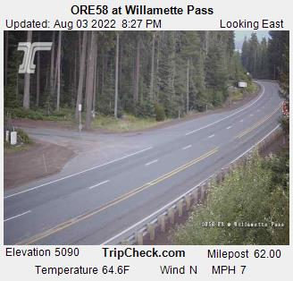 RoadCam - ORE58 EB at Willamette Pass