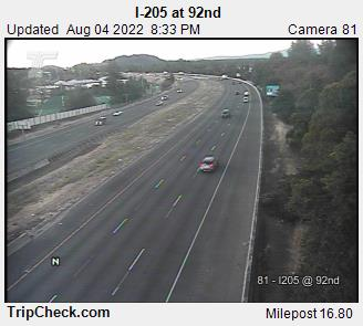 RoadCam - I-205 at 92nd