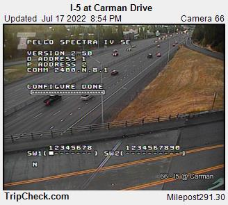 RoadCam - I-5 at Carman Drive