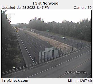 RoadCam - I-5 at Norwood