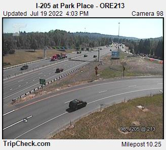 RoadCam - I-205 at Park Place - ORE213