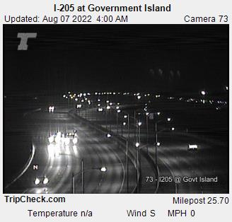RoadCam - I-205 at Government Island