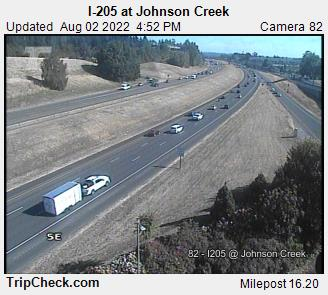 RoadCam - I-205 at Johnson Creek