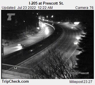 RoadCam - I-205 at Prescott St.