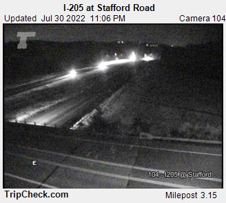 RoadCam - I-205 at Stafford