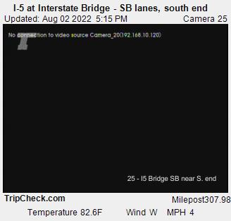 I-5 at Interstate Bridge - Southbound