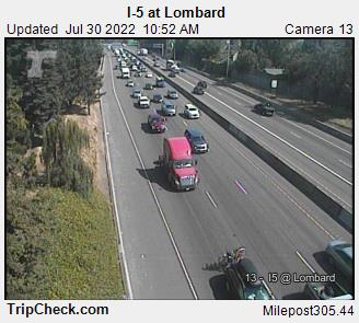 RoadCam - I-5 at Lombard