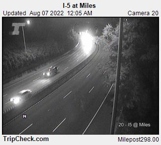 RoadCam - I-5 at Miles